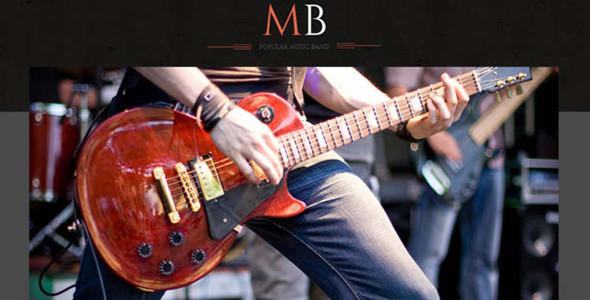 Music Gallery WordPress Template