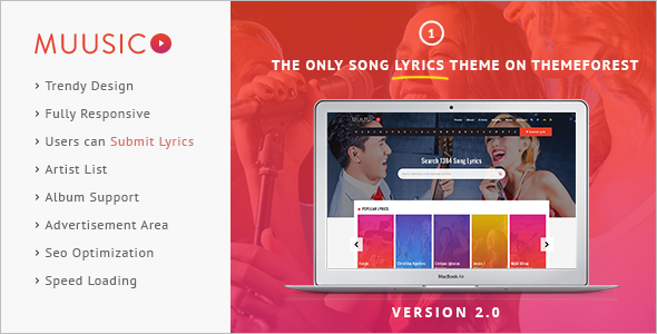 Music Hub WordPress Template