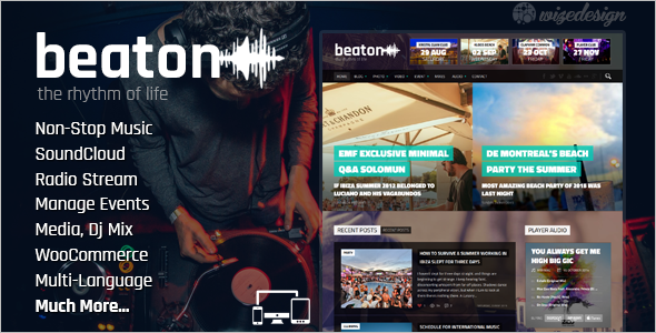 Music Magazine WordPress Template