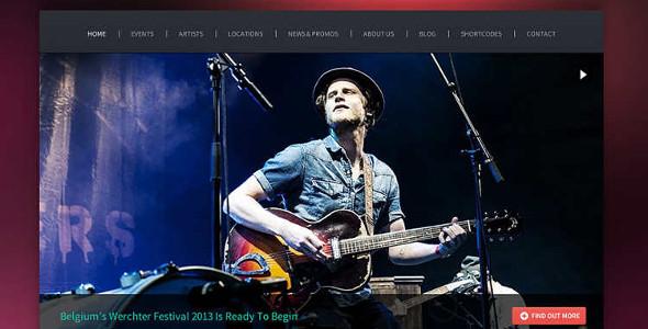 Music Maker WordPress Template