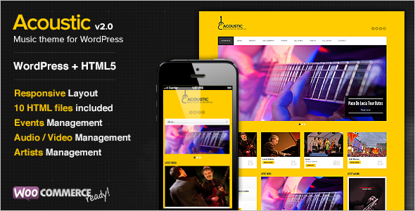 Music Management WordPress Template