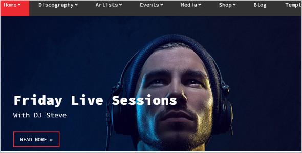 Music Session WordPress Template