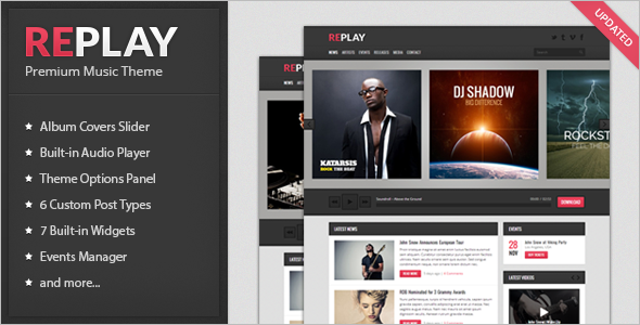 Music Silder WordPress Template