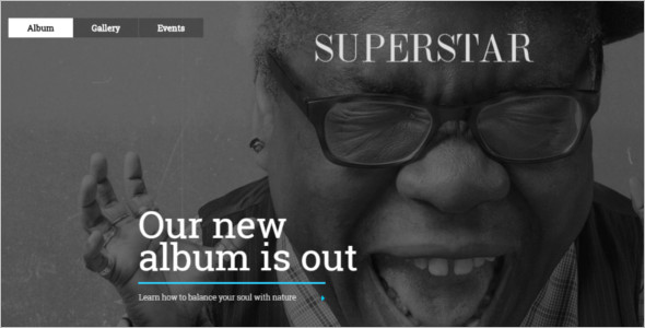 Music Star WordPress Template