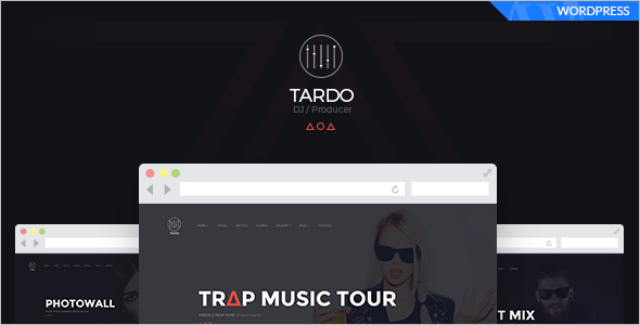 Music Store WordPress Template