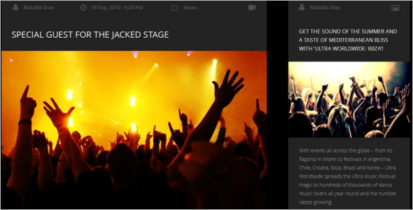 Music WordPress Mobile Template