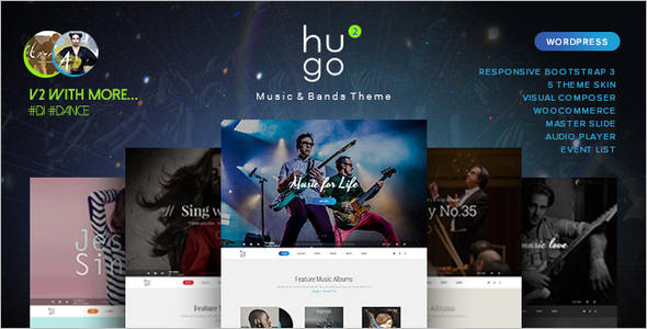 Music WordPress Site Template