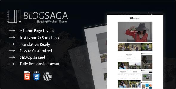 New Blog WordPress Template