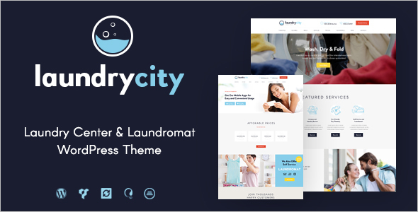 New Laundry Service WordPress Template
