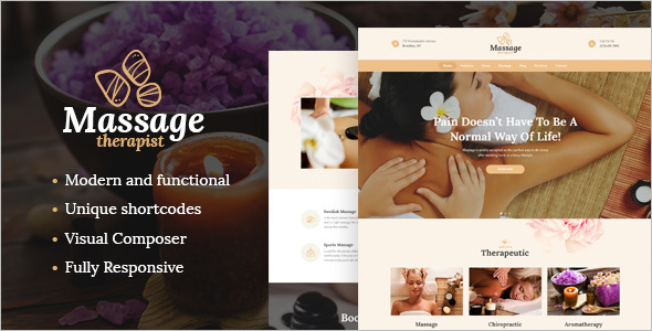New Spa Salon WordPress Template