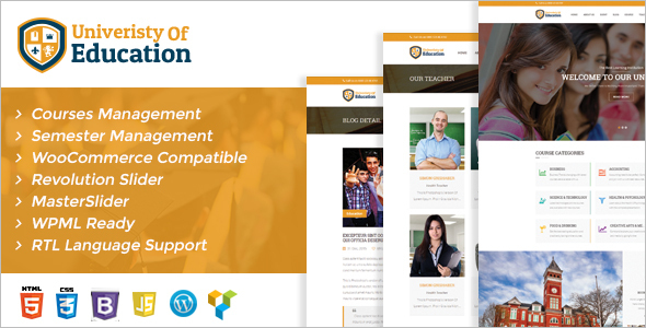 New University WordPress Template