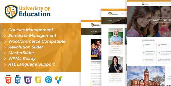 New University WordPress Template