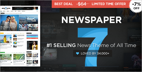 News Editorial Sell WordPress Template