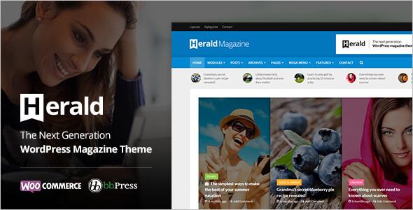 News Portal Flat WordPress Template