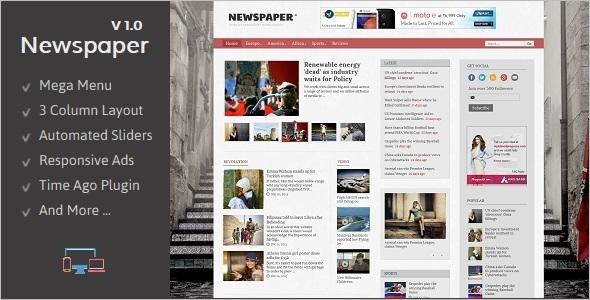 Newspaper Blogger Template