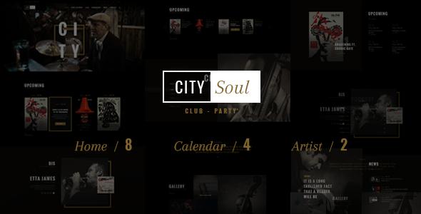 Nightclub Entertainment WordPress Template