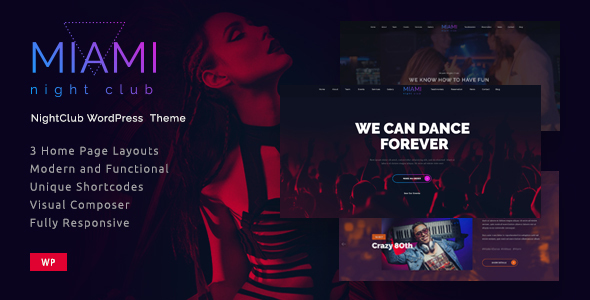 Nightlife Entertainment WordPress Template