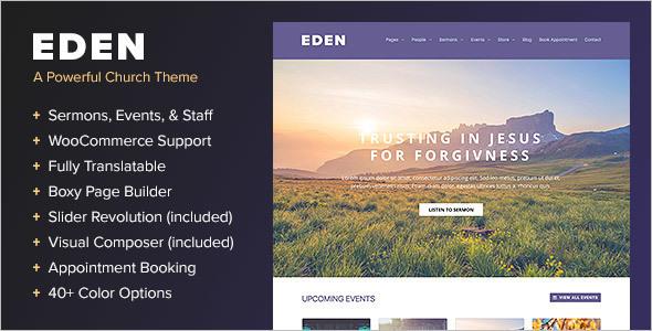 Nonprofit Churches WordPress Template