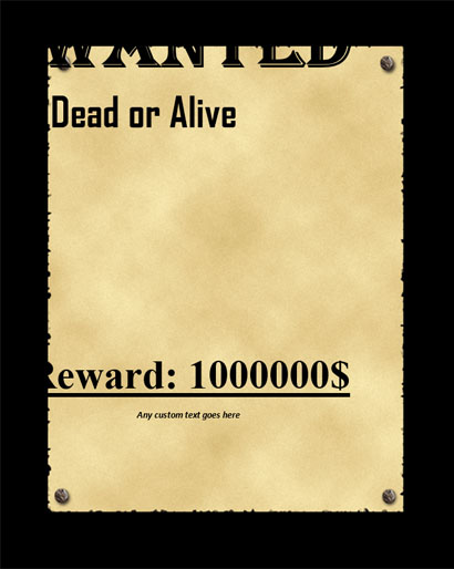 Old West Wanted Poster Template Free Word Doc