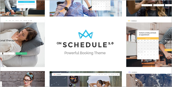 OnSchedule One Page WordPress Template