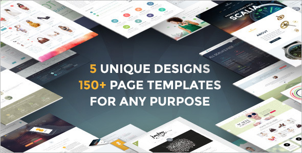 One Page Blog WordPress Template