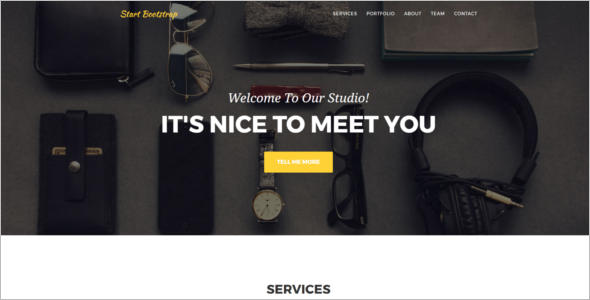 One Page Bootstrap Website Template