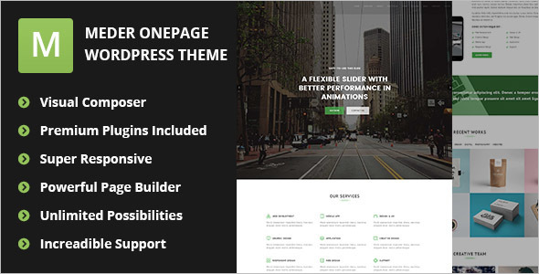 One Page Dark WordPress Template