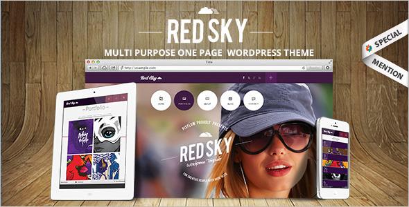 One Page Fashion WordPress Template