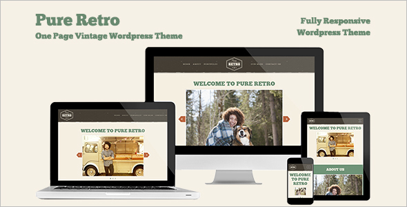 One Page Vintage WordPress Template