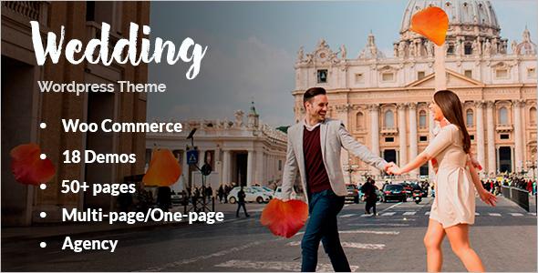 One Page Wedding WordPress Template