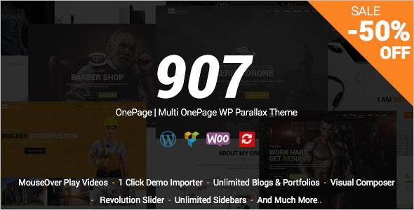 OnePage Parallax Revolution WordPress Theme