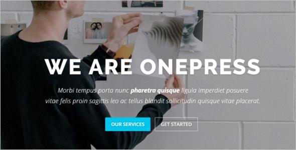 Onepress Godaddy WordPress Template
