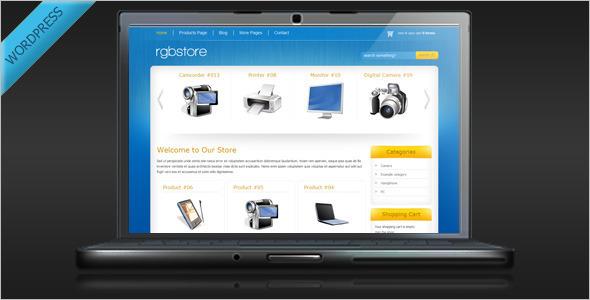 Online Shopping WordPress Template