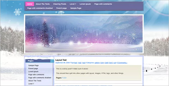 Open Source Background WordPress Template