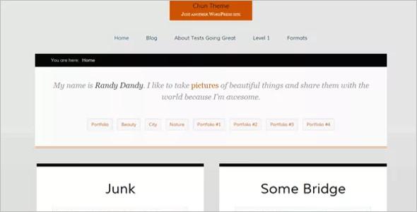 Open Source Blog WordPress Template