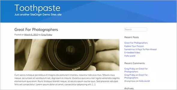Open Source Builder WordPress Template