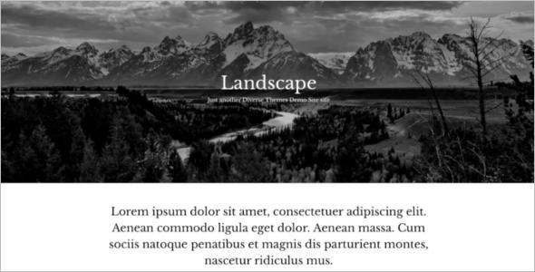 Open Source Landscape WordPress Template