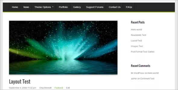 Open Source Magzine WordPress Template