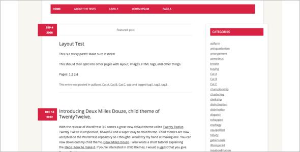 Open Source Navigation WordPress Template