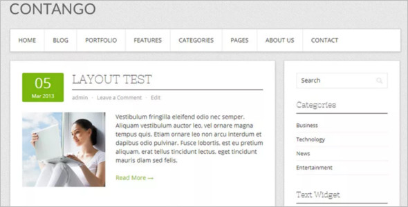 Open Source WordPress Template Design