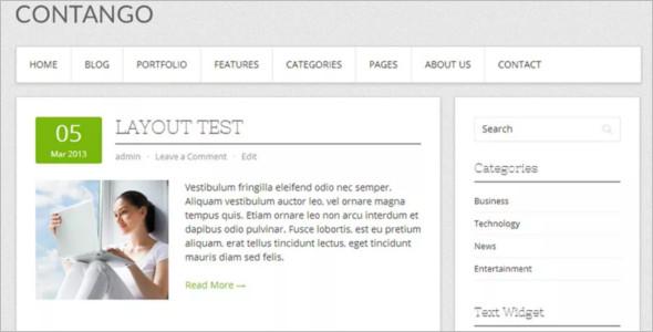 Open Source WordPress Template Design
