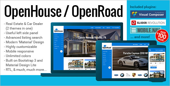OpenRoad Realtor Website Template