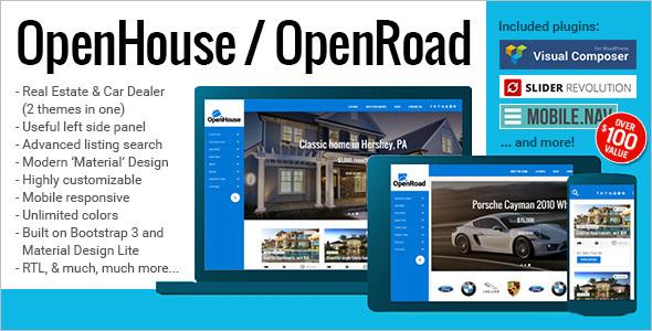 OpenRoad Realtor Website Template