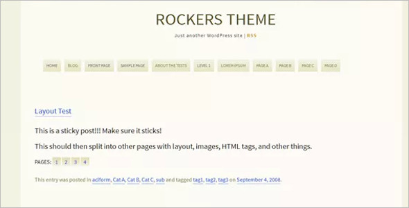 OpenSource Layout WordPress Template