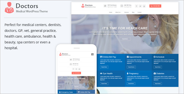 Optimized Medical WordPress Theme