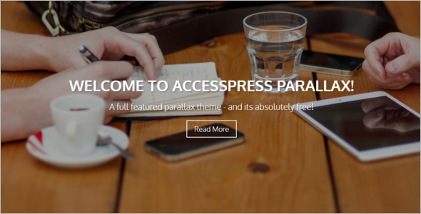 Parallax Channel WordPress Template