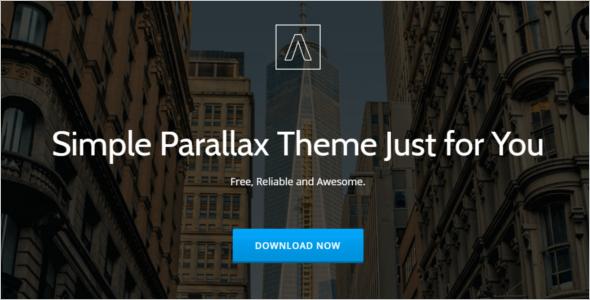Parallax Scrolling Business WordPress Theme