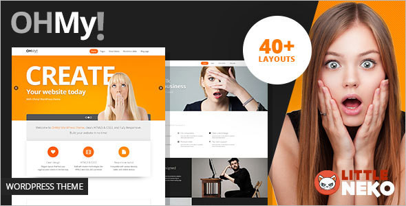 Parallax Single Page WordPress Template