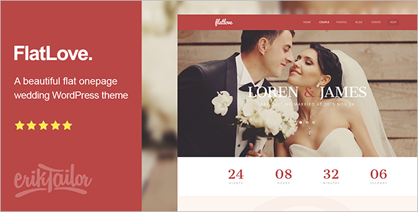Parallax Wedding WordPress Template