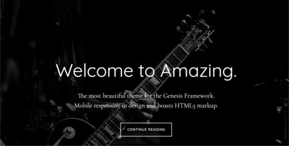 Parallex Genesis WordPress Template